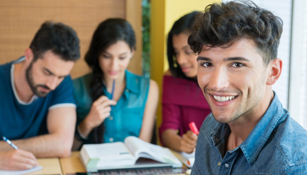Smiling student looking at camera